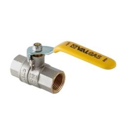 "Кран шаровой газовый VALTEC VALGAS, стальная рукоятка 3/4"" вн.-вн."