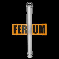 Дымоход Ferrum из нержавеющей стали 1 м, толщина 0,8 мм
