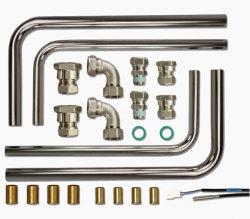 Комплект подключений для подставного водонагревателя с соединением трубопровода