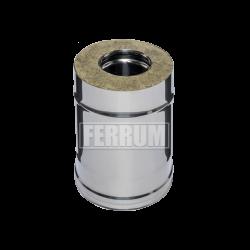 Дымоходы-Сэндвич Ferrum из оцинкованной стали 0,25 м (0,8 мм)
