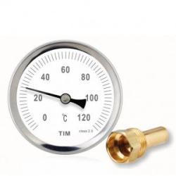 "Термометр TIM с гильзой 1/2"" (0℃ - 120℃)"