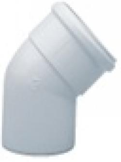 Baxi. Отвод 45 градусов, диам. 80 мм алюминиевый эмалированный. Артикул KHG 714018110