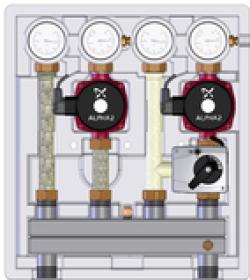 ME 26102.40 Meibes насосно-смесительный модуль Kombimix UK_MKST_UPSO 15-65