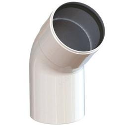 W8-45 Колено алюминиевое 45 гр. д. 80 мм  п/м SAMRISE