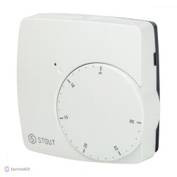 STOUT Проводной электронный термостат WFHT-BASIC со светодиодом